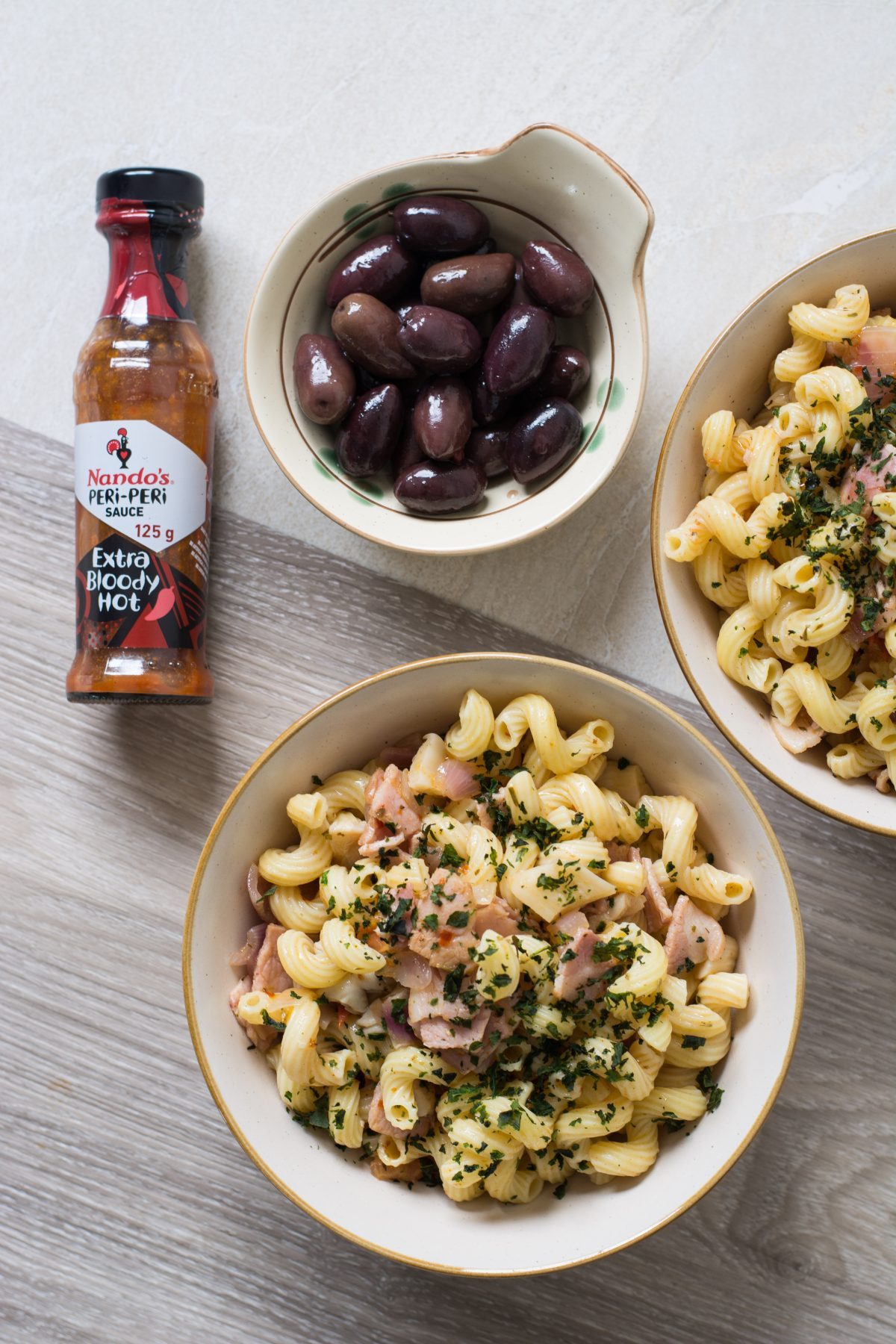 Peri-peri Pasta (with bacon and oyster mushrooms) - thespiceadventuress.com