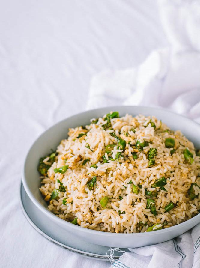 Egg broccolini rice - thespiceadventuress.com
