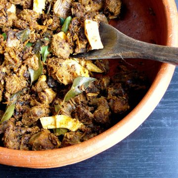 Beef Ularthiyathu (Slow Roasted Beef with Shallots, Spices and Coconut) - thespiceadventuress.com