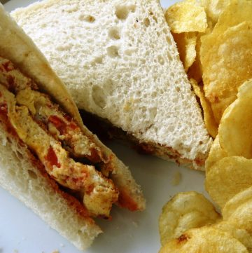 Cheese Tomato Omelette Sandwich - thespiceadventuress.com
