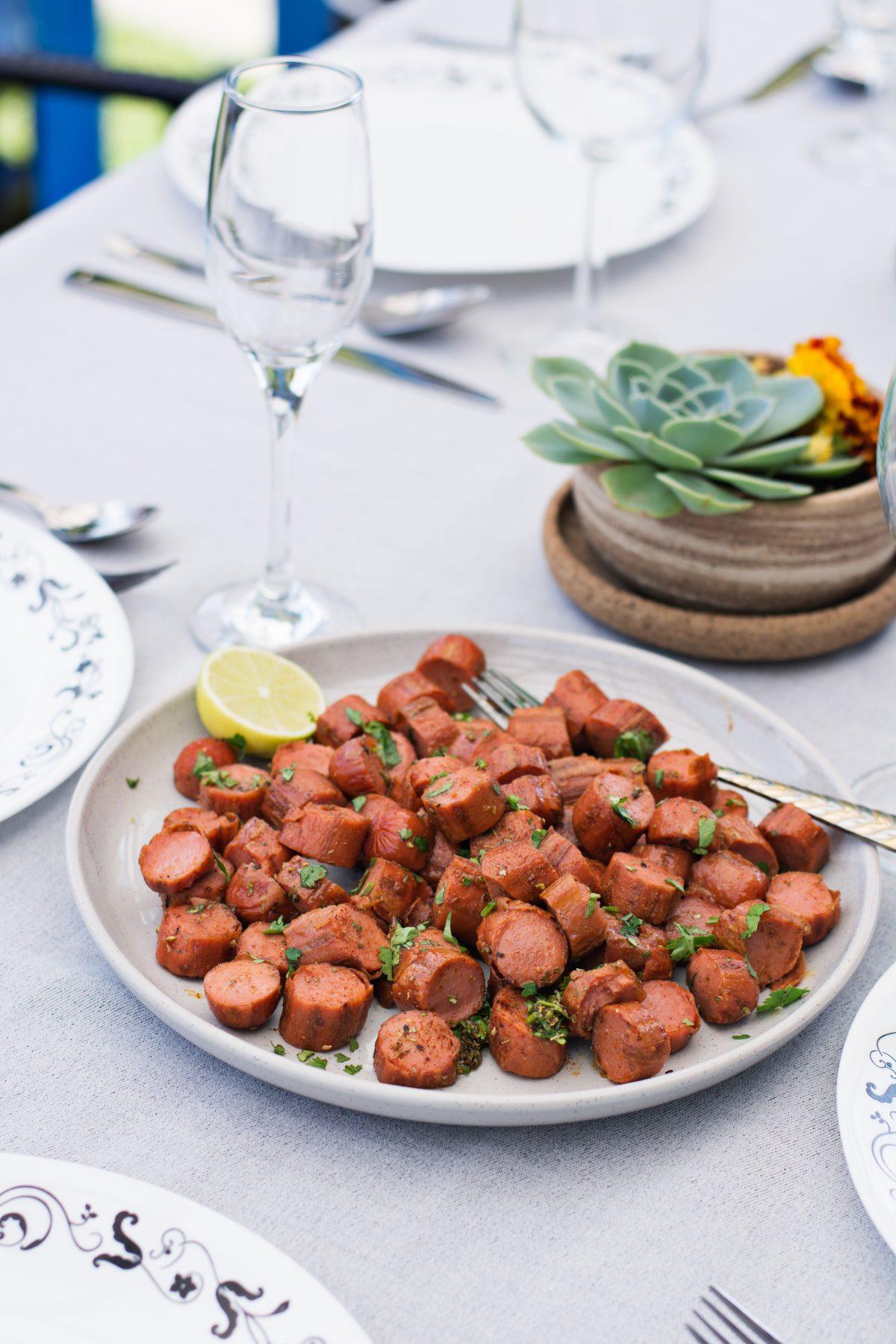 Cajun sausages, a delicious party starter - thespiceadventuress.com