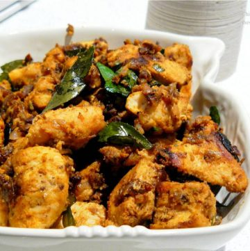 Chicken Chukka Varuval (Indian style slow cooked chicken with spices and aromatics) - thespiceadventuress.com