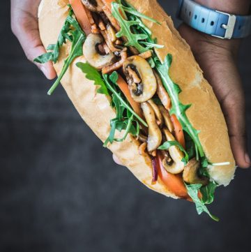 Bacon Mushroom Sandwich - thespiceadventuress.com