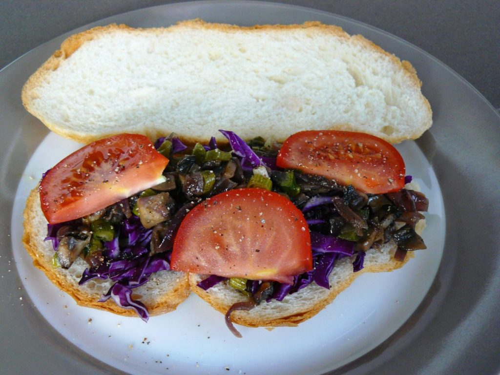 Mushroom Asparagus Masala Sandwich - thespiceadventuress.com