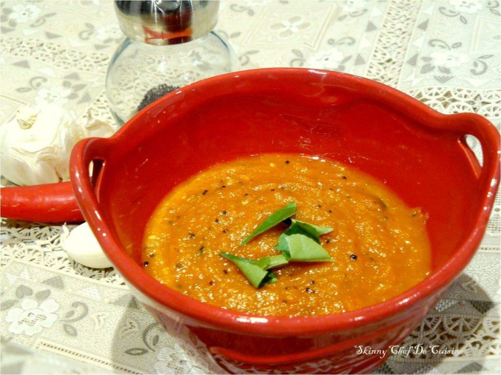 Velluli Karam Pachadi (Spicy Garlic Chutney) - thespiceadventuress.com