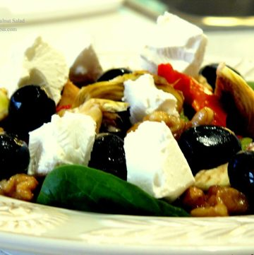 Feta, Artichoke and Walnut Salad - thespiceadventuress.com