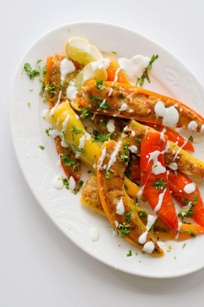 Stuffed chilli peppers, an Indian vegetarian preparation - thespiceadventuress.com
