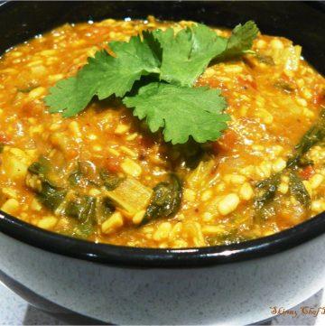 Bok Choy Dal Tadka (Dhaba style) / Bok Choy in Spiced Lentil Curry - thespiceadventuress.com