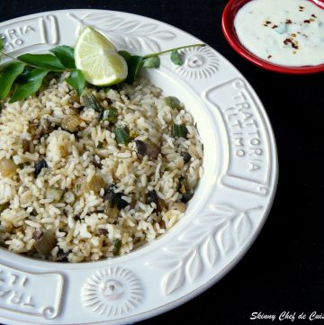 Cajun Rice (with Purple Asparagus and Mushrooms) - thespiceadventuress.com