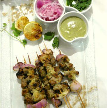 Kairi Gosht Tikka (Grilled Lamb Skewers in Mango Spice Paste) - thespiceadventuress.com