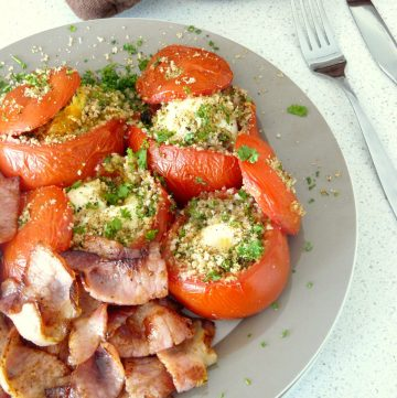 Eggs in Tomatoes - thespiceadventuress.com