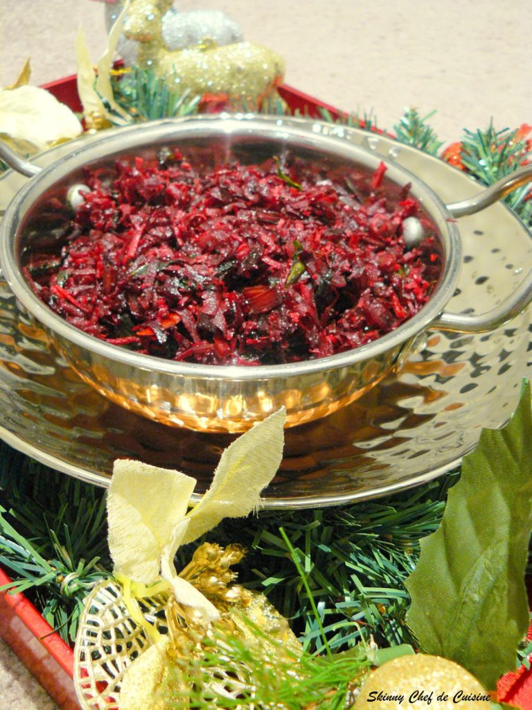 Beetroot Thoran (a Keralan stir fry with beets, greens and coconut) - a guest post for Feeding the Sonis - thespiceadventuress.com