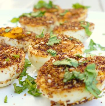 Baid Mutajjan (Middle Eastern Fried Hard Boiled Eggs) - Guest Post for Afra Cooking - thespiceadventuress.com
