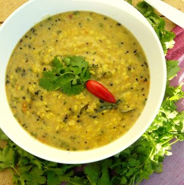Goan Dal (Indian style Lentil curry with coconut and black kokum) - thespiceadventuress.com