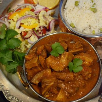 Pork Veenjaali (Indian-style pork curry with a sweet, spicy, aromatic marinade) - thespiceadventuress.com
