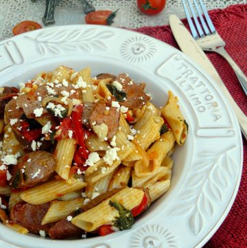 Penne with Kransky and Vine-Ripened Tomatoes - thespiceadventuress.com