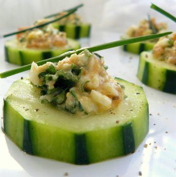 Stuffed Cucumber Salad - thespiceadventuress.com