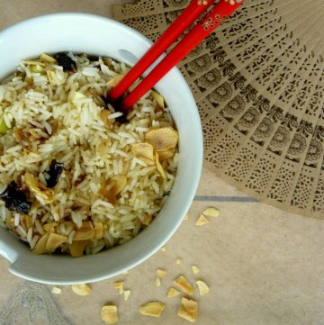 Burnt Garlic and Ancho Chili Rice - thespiceadventuress.com