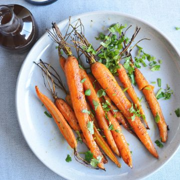 Roasted carrots with citrus and garam masala - thespiceadventuress.com