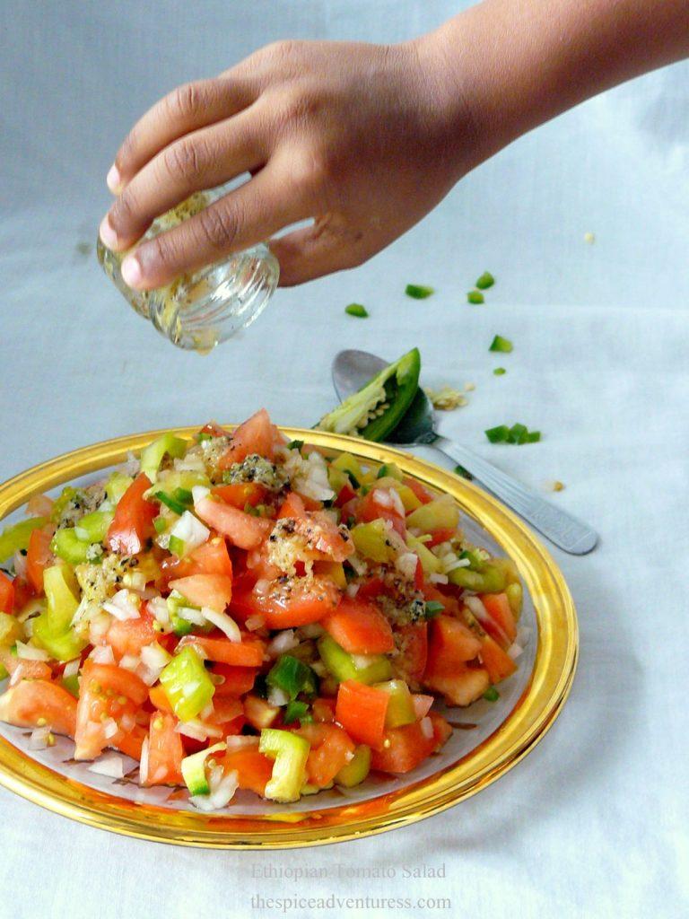 Ethiopian Tomato Salad - thespiceadventuress.com