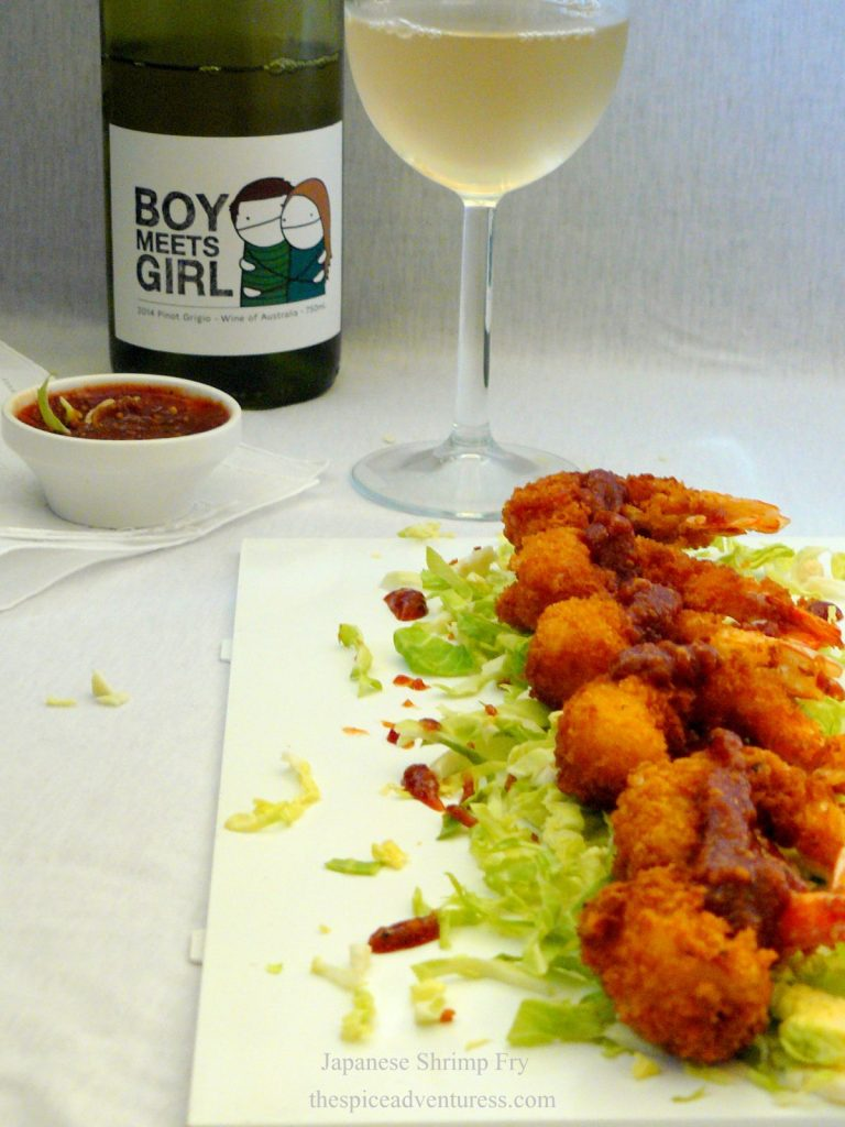 Japanese Shrimp Fry (Ebi Fry) with Katsu Sauce - thespiceadventuress.com