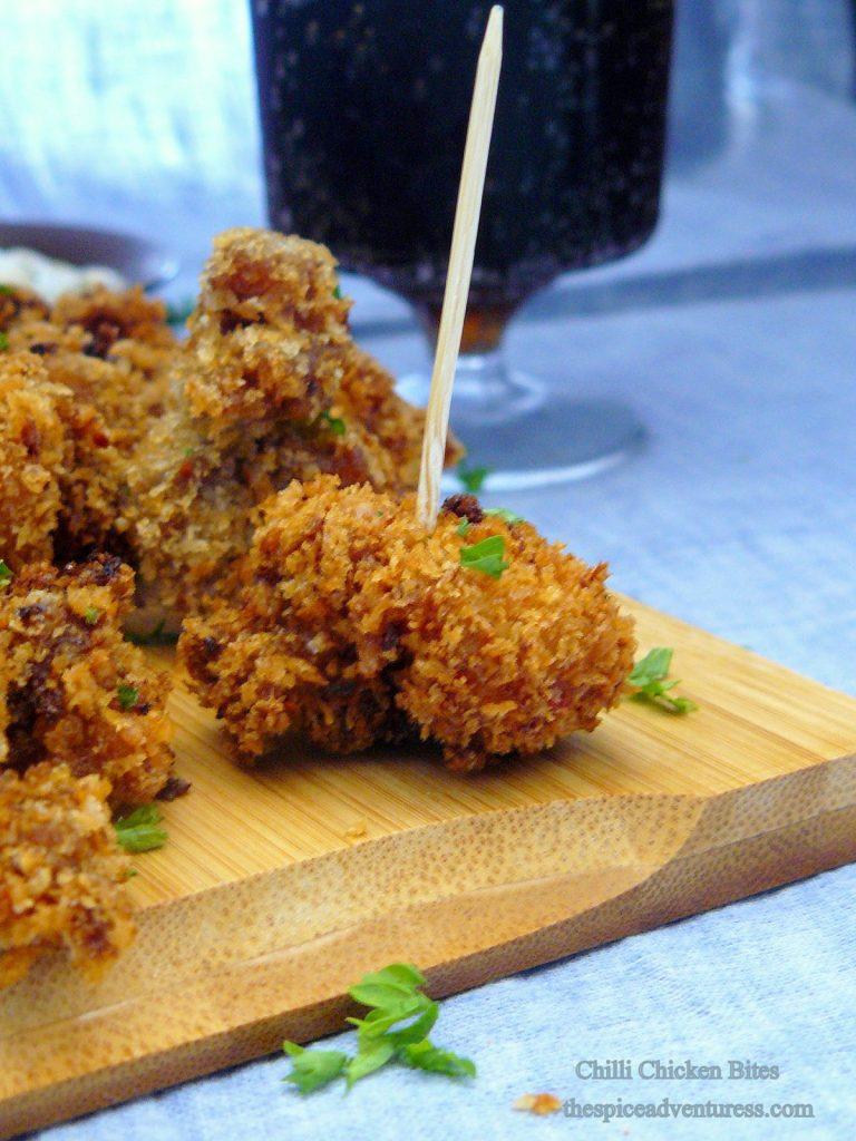 Chilli Chicken Bites - thespiceadventuress.com