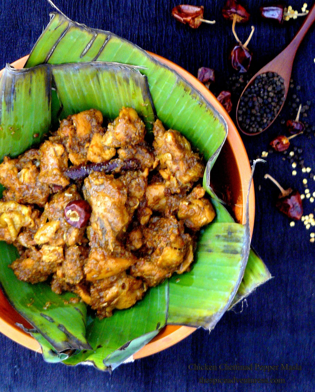 Chicken Chettinad Pepper Masala (Milagu Masala Kozhi) - Chettinad cooking at its best - thespiceadventuress.com