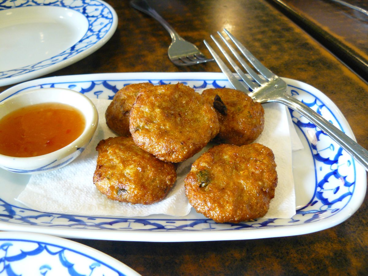 Fish cakes (Spicy fish patties with blended curry and spices)