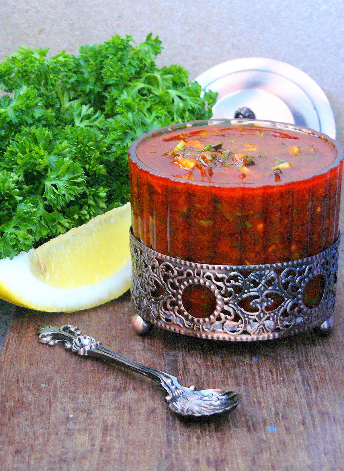 Red Chermoula - a Moroccan spice blend/condiment - thespiceadventuress.com