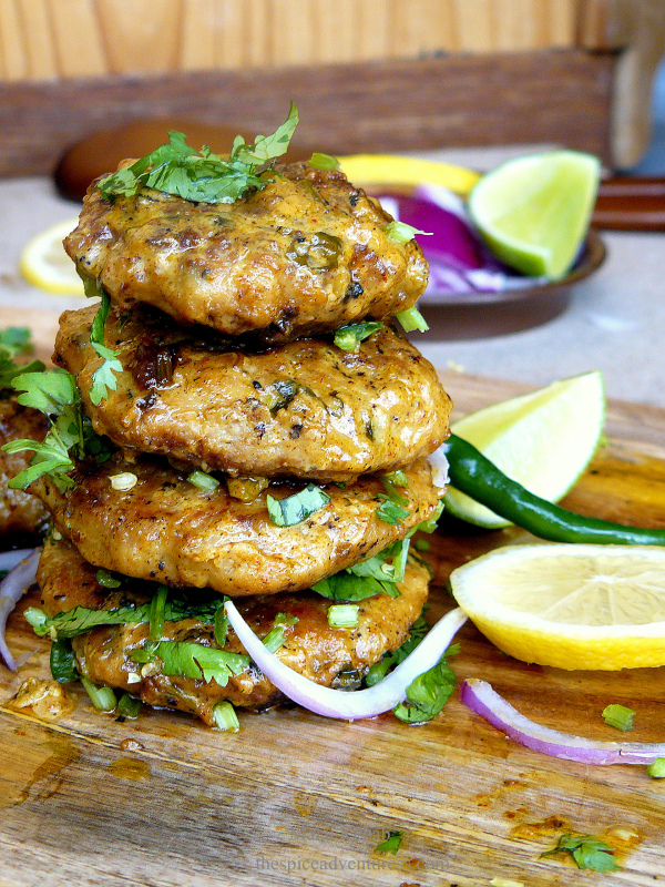 Malai Kebab (Minced Chicken Patties cooked in Spices, Aromatics and Cream) - thespiceadventuress.com