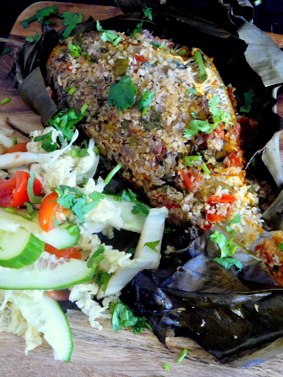 Kerala style Grilled Leatherjacket in Banana Leaf - a delicious classic gets reinvented - thespiceadventuress.com