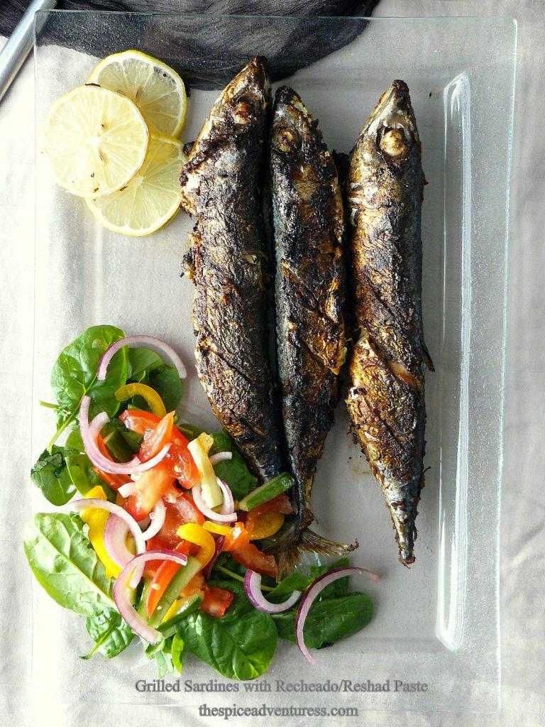 Grilled Sardines with Recheado/Reshad Paste - thespiceadventuress.com