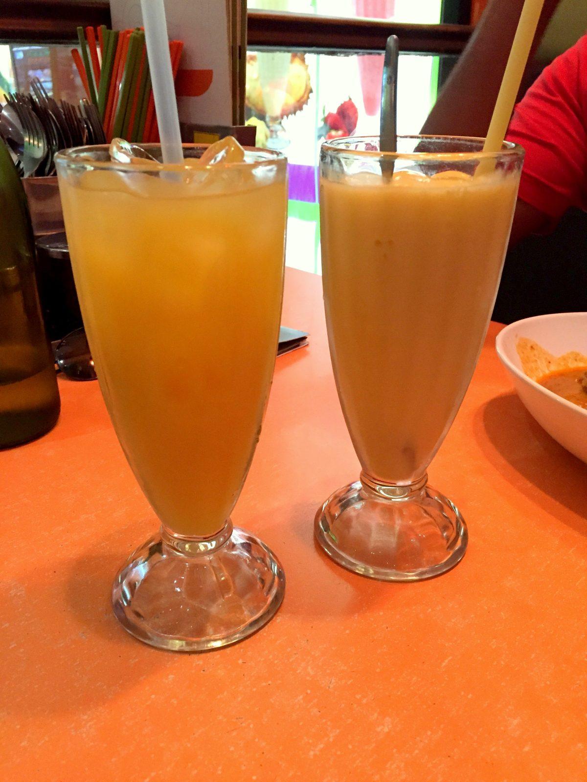 Mango smoothie, Orange juice