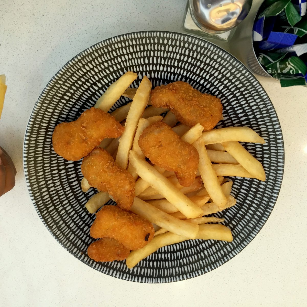 chicken nuggets and fries