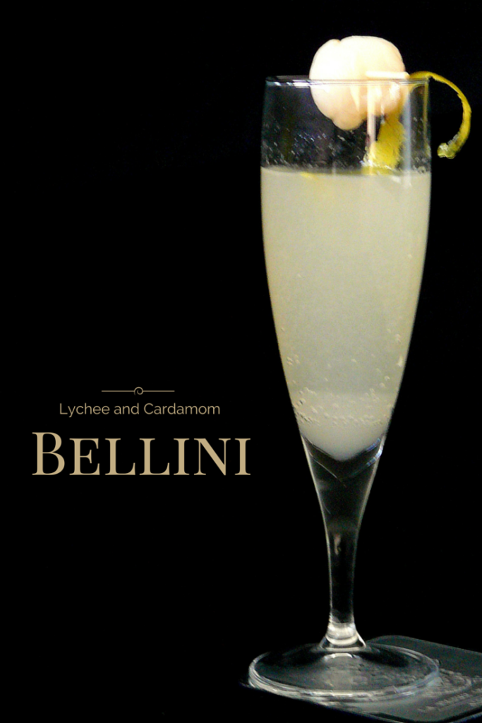 Lychee and Cardamom Bellini - thespiceadventuress.com