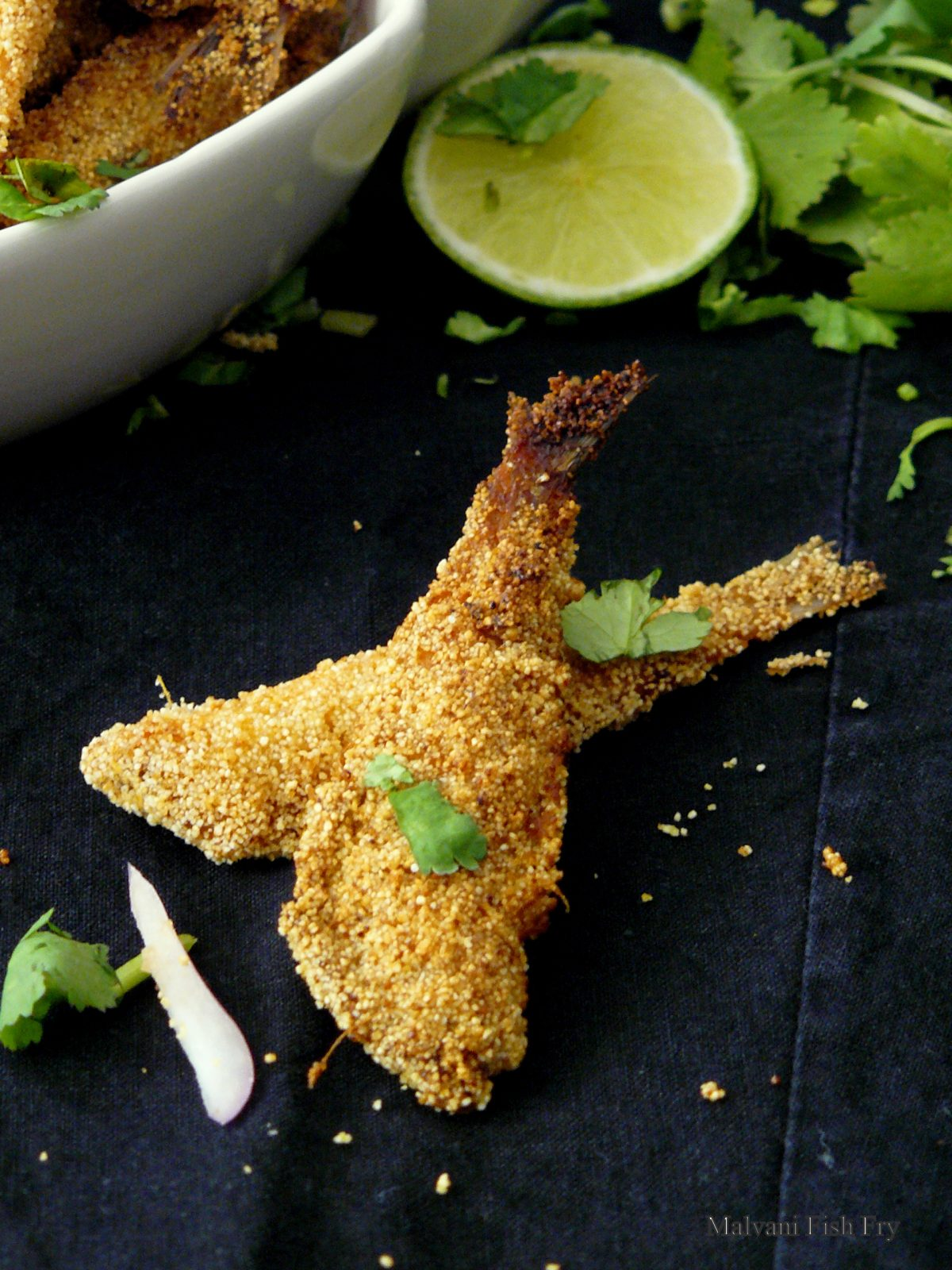 Malvani Fish Fry - a crunchy, mildly spiced fish fry from India - thespiceadventuress.com