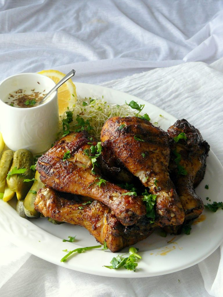 Grilled Chicken Drumsticks with Coffee Spice Rub - thespiceadventuress.com