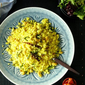 Tempered Cauliflower Rice - thespiceadventuress.com