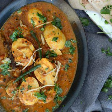 Andhra Egg Curry - thespiceadventuress.com