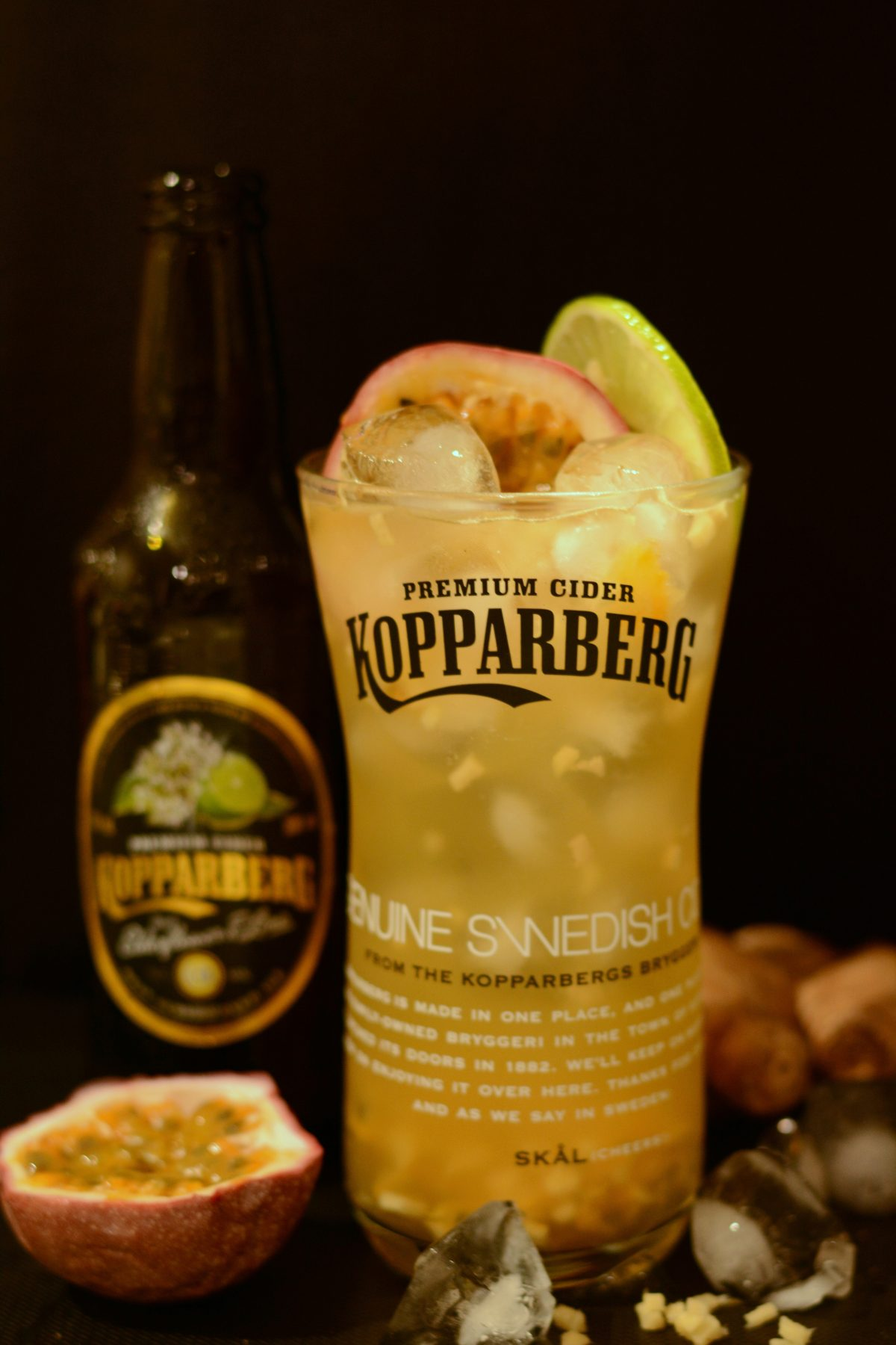 Swedish Mule, a Kopparberg Elderflower & Lime Cocktail - Freshness and slightly spicy undertones from the ginger, zingy bursts of passionfruit and the sweet refreshing vibrancy of the elderflower and lime - thespiceadventuress.com