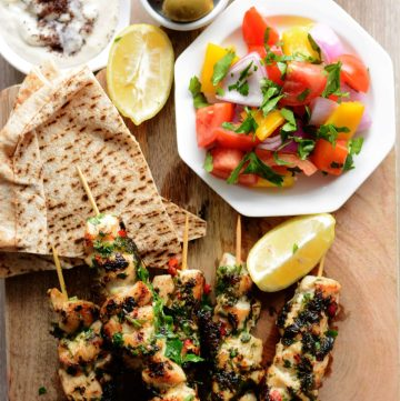 Herby and delicious - Grilled Chicken Skewers (with Fresh Herbs and Chillies) - thespiceadventuress.com