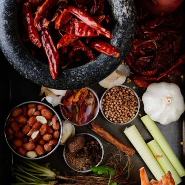 A medley of spices, herbs and aromatics - food photography - thespiceadventuress.com