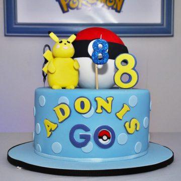 Pokemon theme cake - thespiceadventuress.com