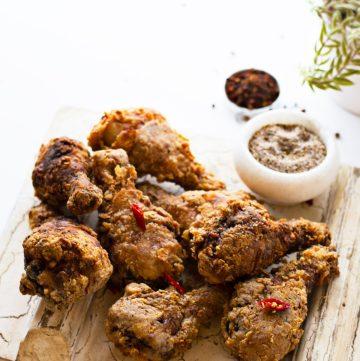 Asian style Fried Chicken Drumsticks - thespiceadventuress.com