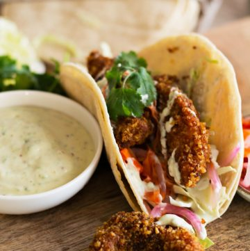 Fish Tacos (with Pickled Slaw and Jalapeno Mayo) - thespiceadventuress.com