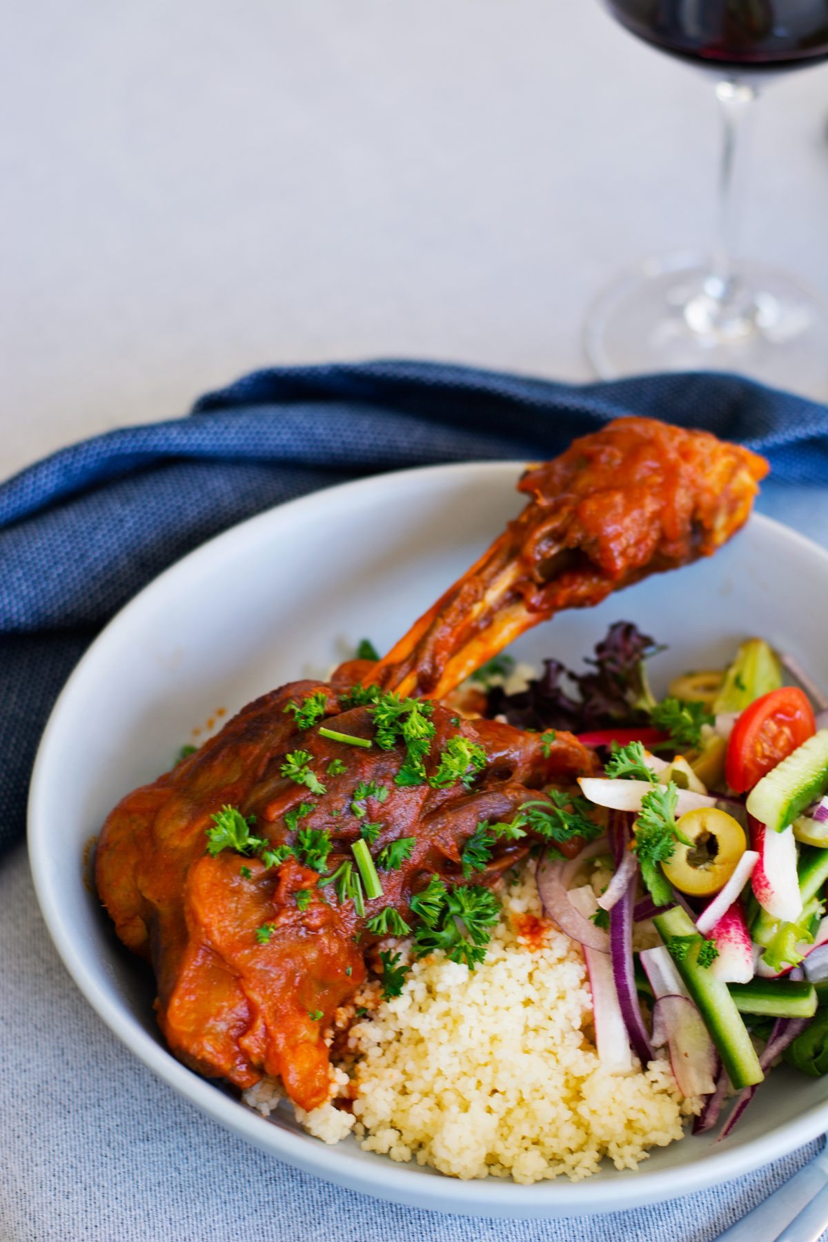 Slow cooked Lamb Shanks (with chilli, garlic and tomatoes) - thespiceadventuress.com