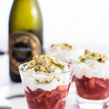 Strawberries, Sparkling Wine, Crème Chantilly, Pistachios - thespiceadventuress.com