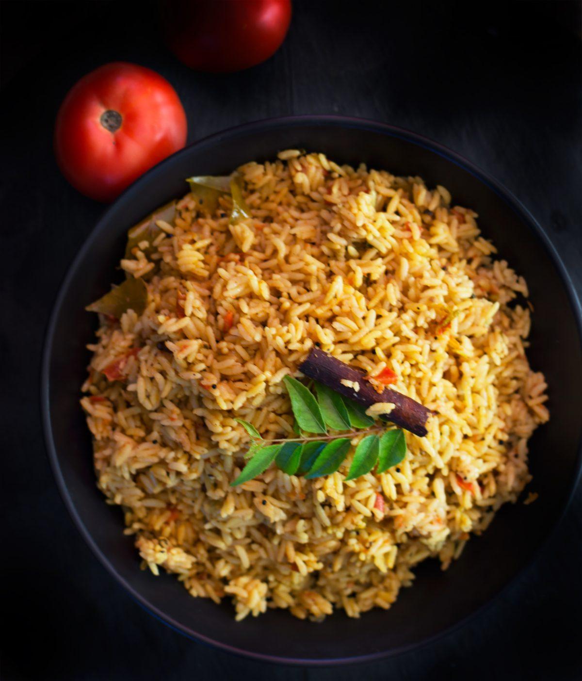 Tomato Rice - thespiceadventuress.com