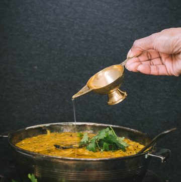 Khichdi (Lentil Rice) with Carrot Greens - thespiceadventuress.com