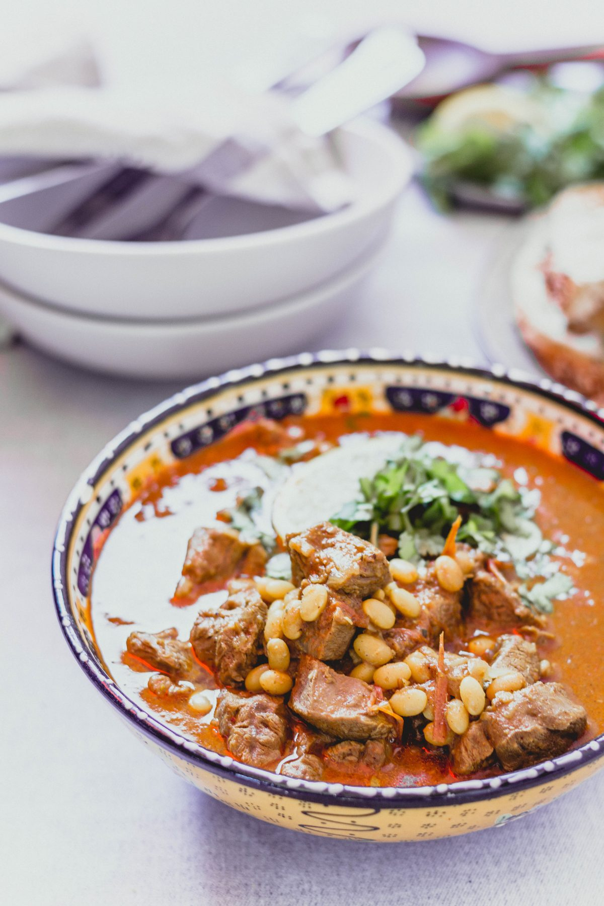 Lamb Curry with Haricot Beans - thespiceadventuress.com
